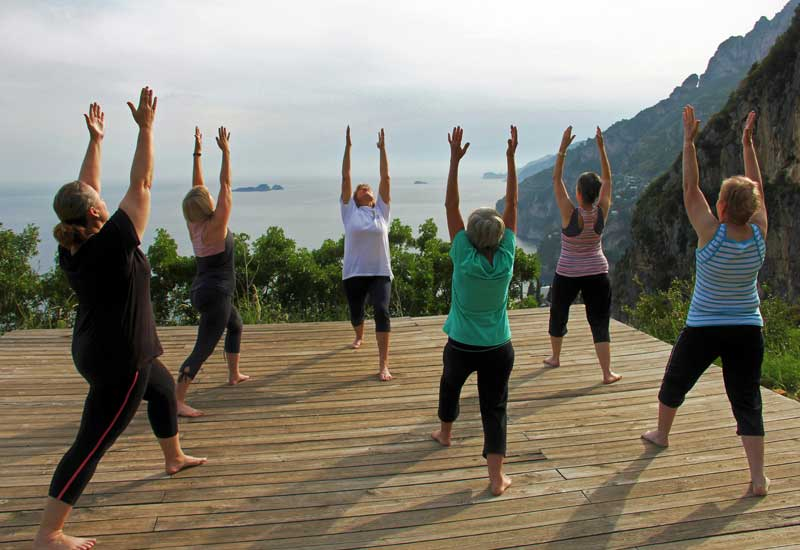 la Selva Retreat Centre Positano Italy - Lyn and Group